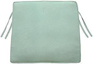 """Box edge Trapezoid Outdoor Chair Cushion, 3""""Hx20.5""""Wx18""""D, MIST SUNBRELLA"""