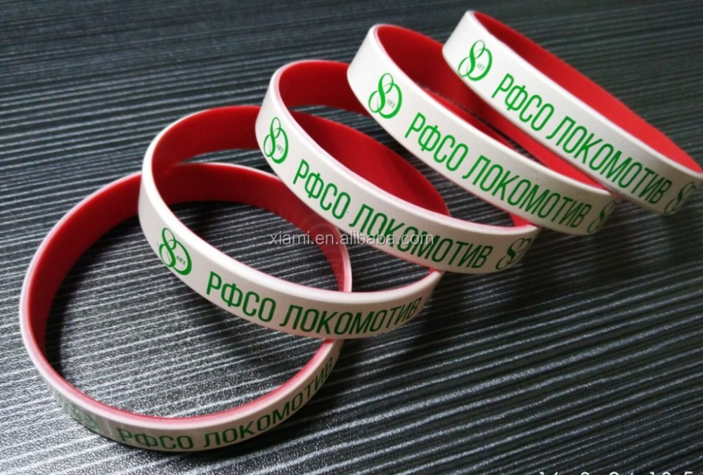 well design environmental texture printed words special logo silicone bracelet las vegas