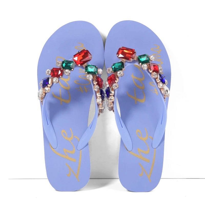 6dce071bd307c Crystalize Customized Women Sparkling Bulks Flip Flop With Diamond ...
