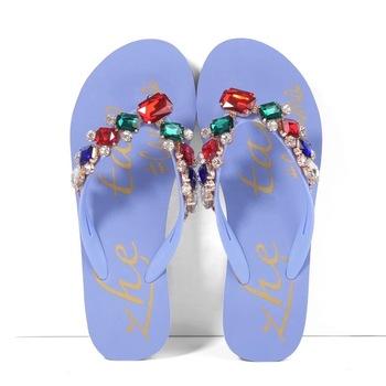 1fe37ccb003e67 Crystalize Customized Women Sparkling Bulks Flip Flop With Diamond ...