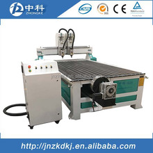 Two spindles 4 axis cnc router rotary axis