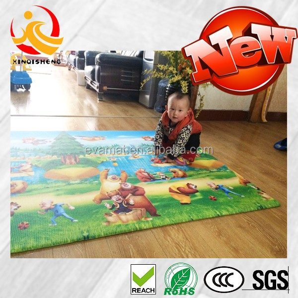 Wholesale products PVC foam baby play gym mat, non-toxic baby sleeping mat, anti-slip floor mat