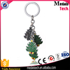 Hot selling best gifts zinc alloy metal hard enamel custom christmas father reindeer tree keychain