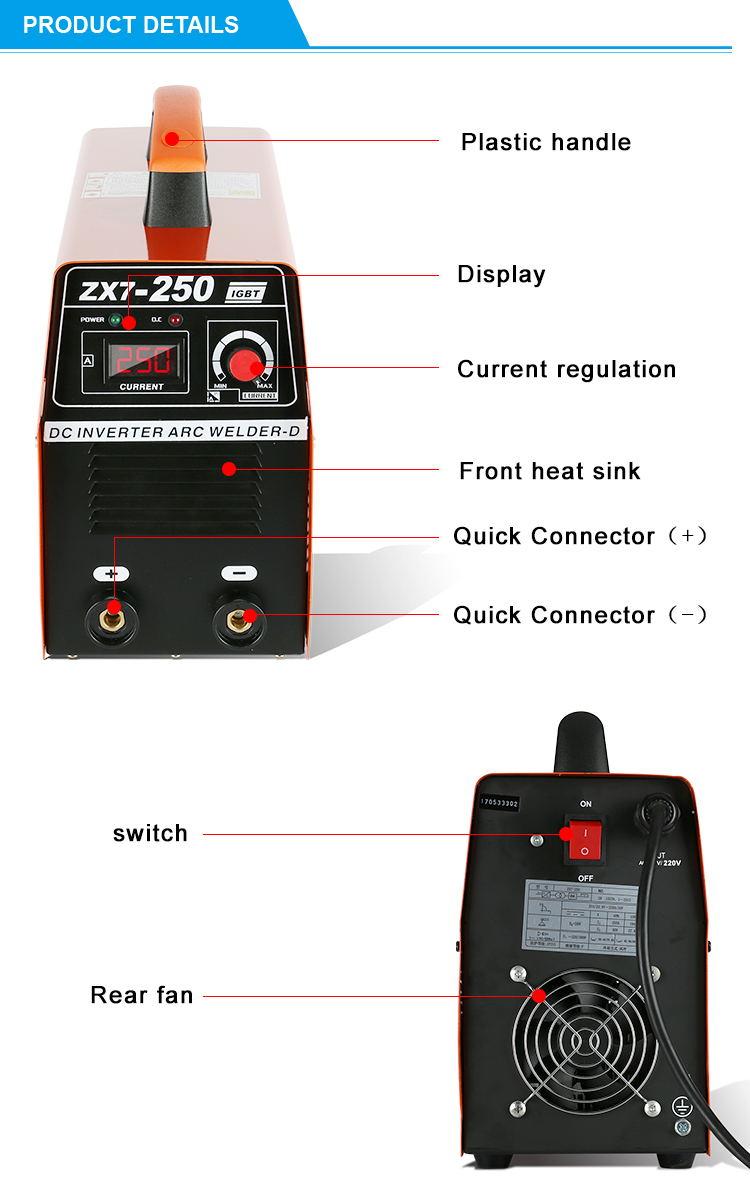 ZX7-250 welding machine preço bangladesh