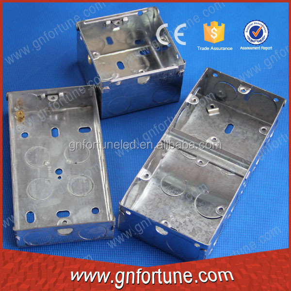 Hot Galvanized Metal Electric Square Junction Knockout Box