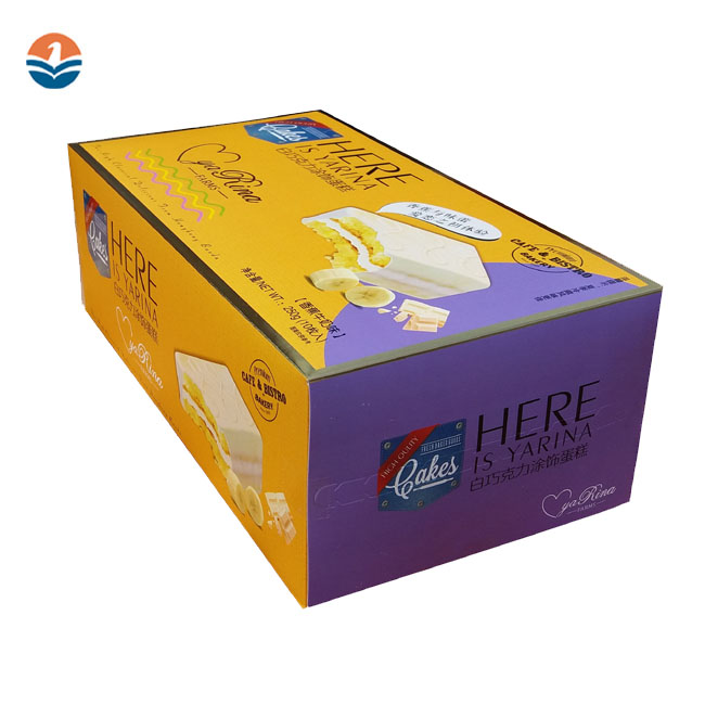 Printed Custom Logo Paper Food Packing Box For Cake/Tea/Candy