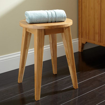 Bamboo Bathroom Stool/shower Chair - Buy Bamboo Bathroom Stool ...