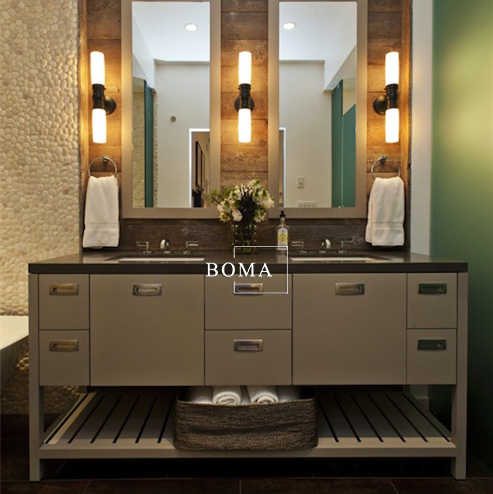 2017 Boma American Style Solid Wood Bathroom Vanity Unit