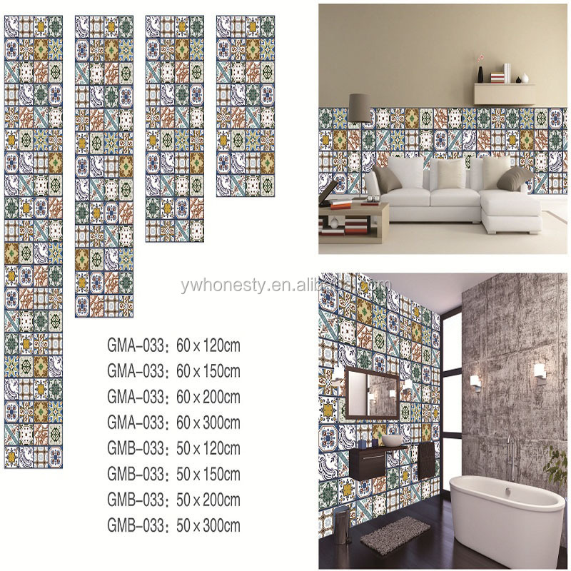 Newest Kitchen/bathroom backsplash wall tile sticker Waterproof Removable Tile Stickers
