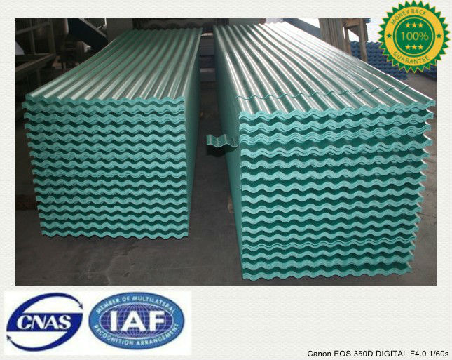 Difficult Burned PVC Corrugated Roofing Materials