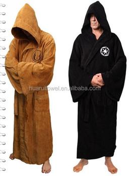 Halloween Robe 100% Cotton Mens Velour Bathrobe Hrm Funny ...