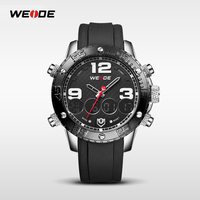New design sport watches black color silicone rubber strap watches for men