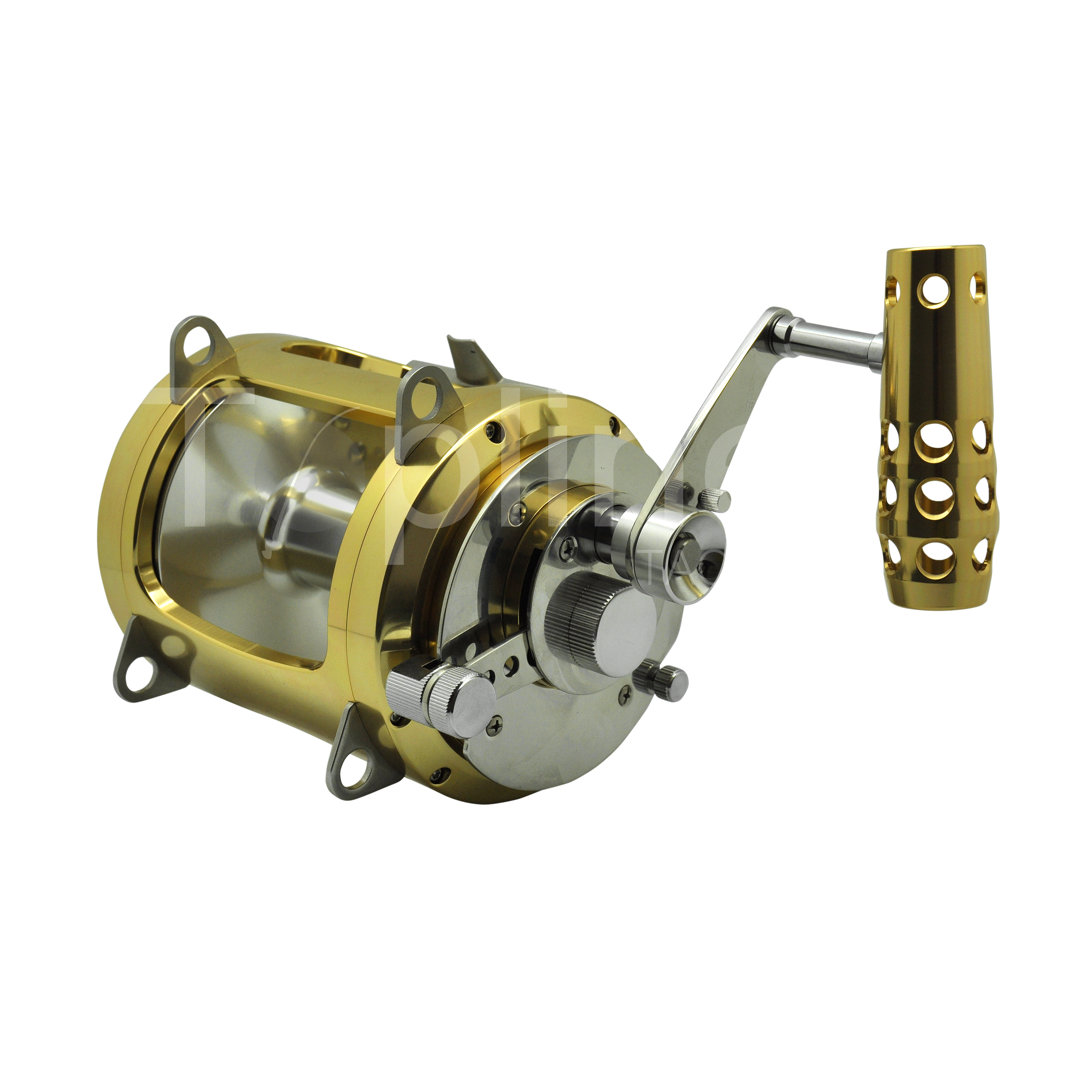 China wholesale big game trolling fishing aluminum saltwater boat trolling fishing reel, Gold