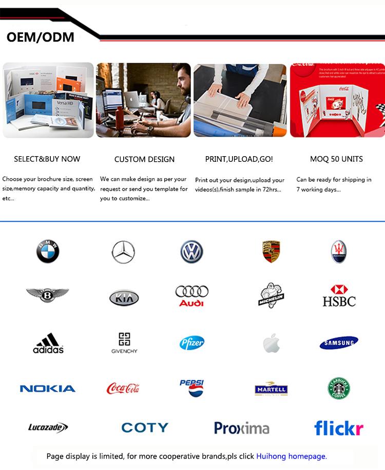 Hot Sales  Lcd Screen Video Greeting Card Video Brochure