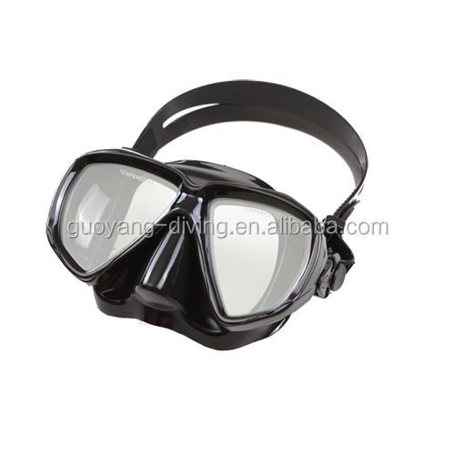 Cheap liquid silicon diving black mask for kids