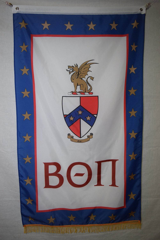 Beta Theta Pi College Fraternity Official Licensed Flag Banner Fringe 3x5