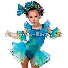 MBQ450 Enfant belle bleu animal poissons de danse costumes