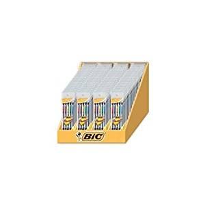 BIC CORPORATION Mechanical Pencils, 0.7mm, 72 per Set, Black Barrel/Assorted, Pocket Clip