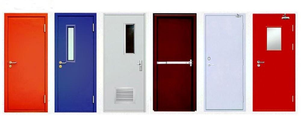 product-StrongSteel MetalDouble Door Panel Fireproof Emergency Door-Zhongtai-img-1