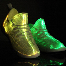 Lace-up style optical fiber led shoes, custom shoes manufacturers mens sneaker, new year/give away gifts led shoes