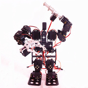 DIY robot toy kit walking robot with claw15 degrees of freedom humanoid biped robot kit