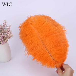 Orange Feather Bulk Synthetic Ostrich Feathers