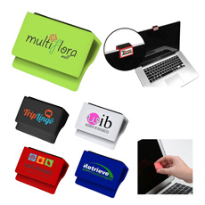 Gift cheap OEM brand logo mini personal pocket Laptop Computer Tablet digital webcam cover with Pad tablet PC Screen cleaner