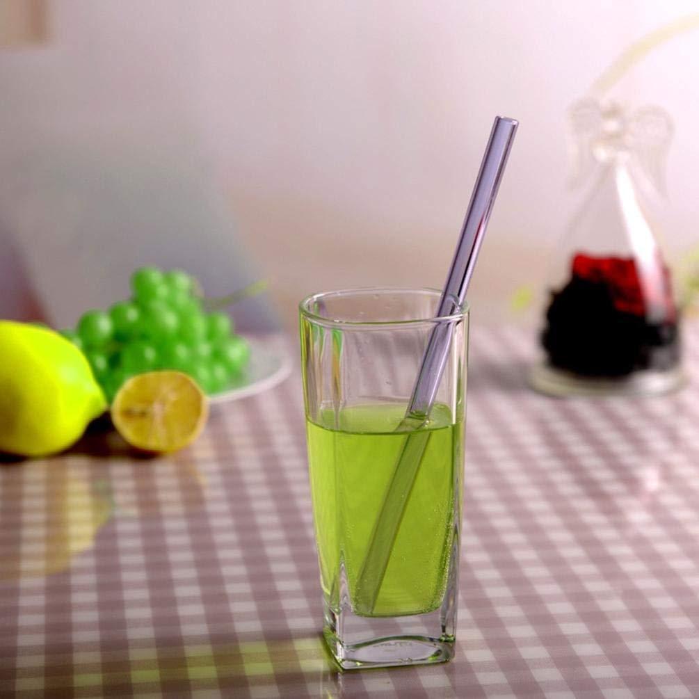 Drinking Straws, Elevin(TM) Reusable Glass Straws Smoothie Drinking Straws for Milkshakes Frozen Drinks