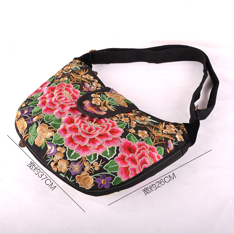 Hmong Embroidery Design Bag Canvas For Women Ethnic Wind Bag