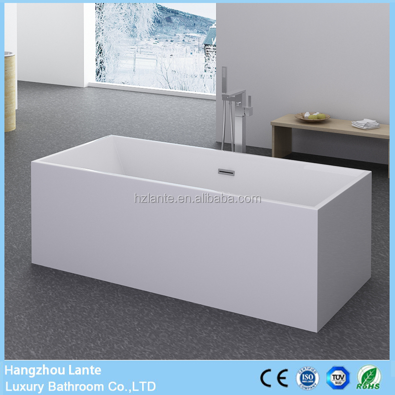 5.9' Sizes Free Standing Square Bathtub in Feet