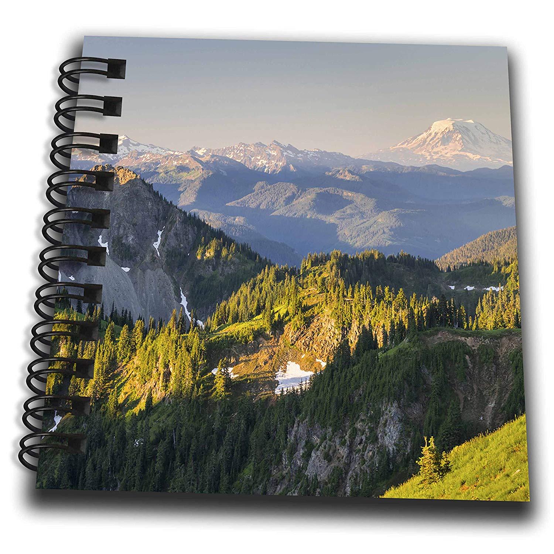 3dRose Danita Delimont - Mountains - Washington. Panorama of Mt. Adams at Mt. Rainier NP. - Mini Notepad 4 x 4 inch (db_279670_3)