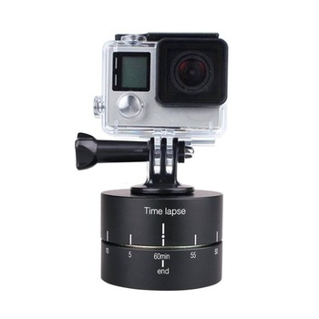 Time Lapse Shooting 60 Minutes 360 Degree Rotary Timer Round Delay Stabilizer Pan Head for DSLR or Action Cameras Go Pro Hero