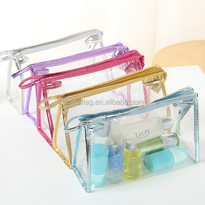 Clear pvc cosmetic bag for hot sale
