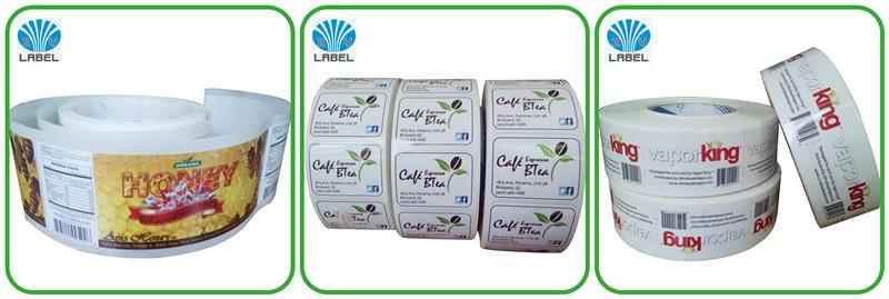 Custom waterproof adhesive stickers shampoo liquid soap bottle shower foam private daily label design
