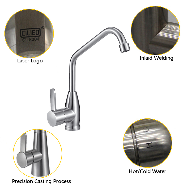 Hot Sale Commercial Flexible Hose UPC Pull-out Kitchen Faucet