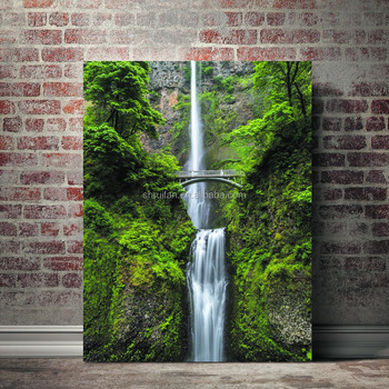 e195197d0 Ecofriendly Printing Nature Forest And Waterfall Painting - Buy ...