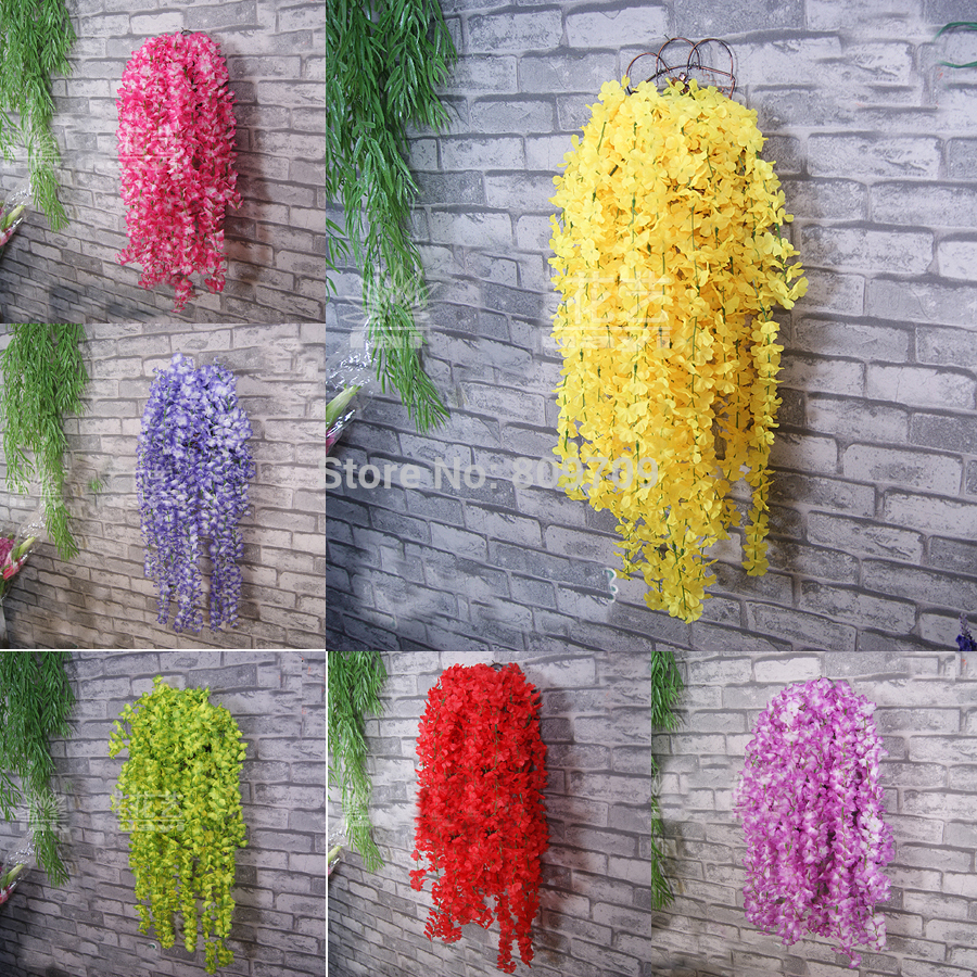 4pcs Artificial Silk Winter Jasmine Vine Rattan Cane Ivy Wall Hang Garland Plant Wedding Home Party Adornment Market Decor