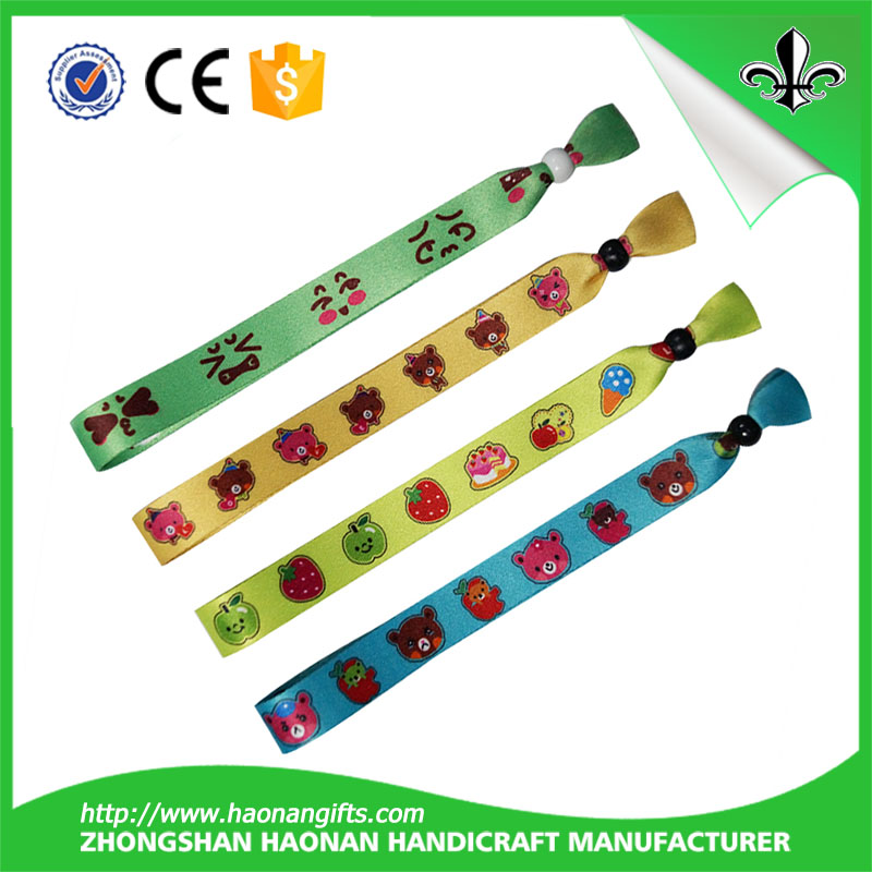 Trending hot products snap lock wristband for fashion textile wristband