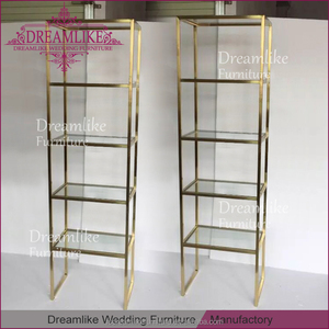 vertical corner four layers clear glass top display stainless steel cabinet for liquor