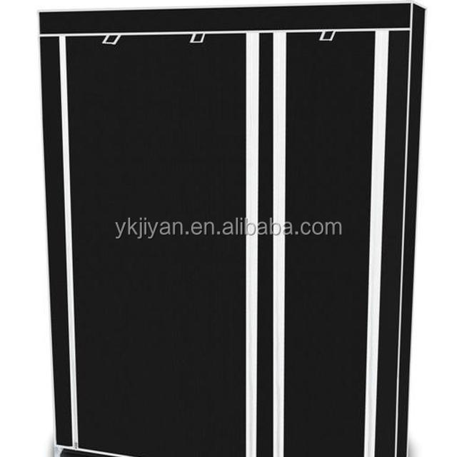 Home Use Clothes Storage Portable Wardrobe Canvas Cover Industrial Pipe  Closet Yongkang Made