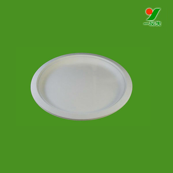 Take away food boxes disposable 6/7/8/9/10 inch paper plate,sugarcane pulp dish,containers