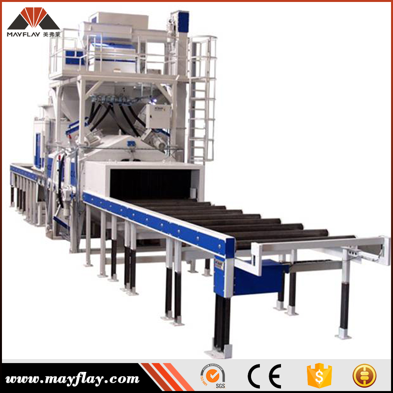 MAYFLAY MTR Series Steel Plate Surface Automatic Pre-Treatment Line / Steel Plate Shot Blasting Machine
