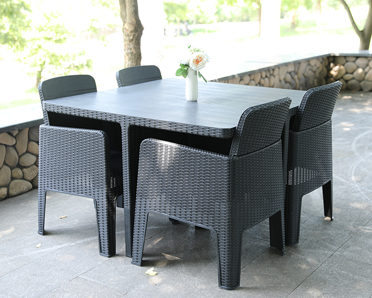 Outdoor Rattan Cube set 5 Piece Dining Set Wicker Patio Conservatory Furniture