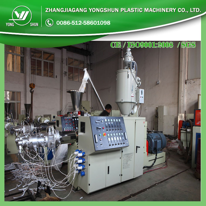 PE water pipe making machine/PE hose extruder line/big pipe diameter pipe production line
