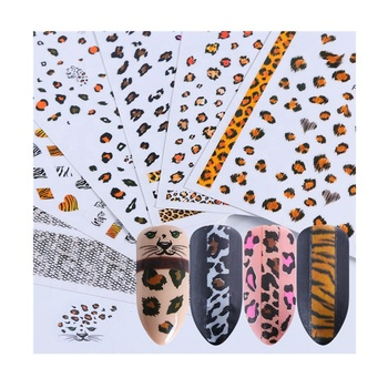 F Series F505-534 Nail Leopard Snake Print Sticker for Nail Decorations Manicure Adhesive Tips 3D Sexy Polish Wraps Accessory