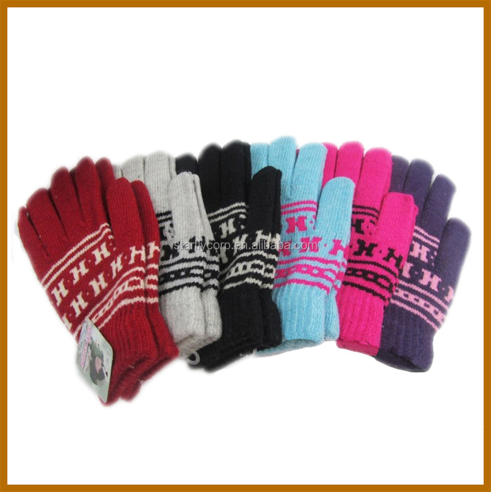 long finger woollen makeup brush cleaning glove for men
