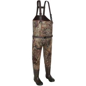 Mens Waterproof Camo Neoprene Hunting Chest Waders