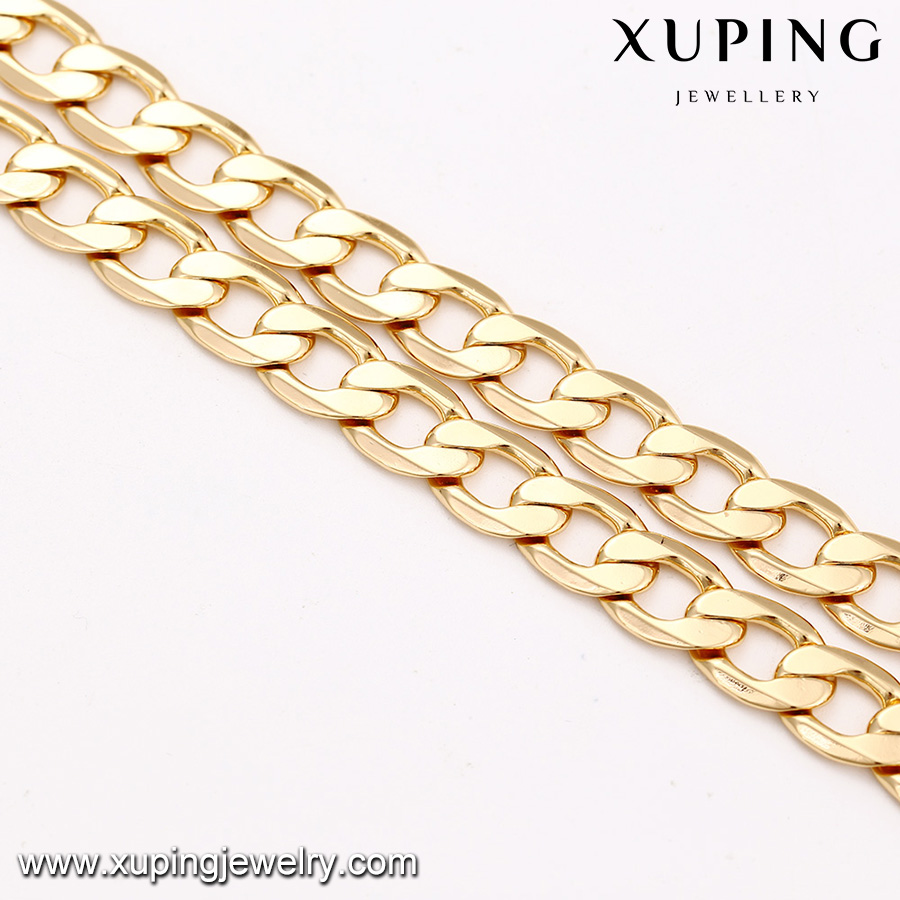43586 xuping jewelry simple 18K gold plated big chains men necklace, mens fashion jewellery