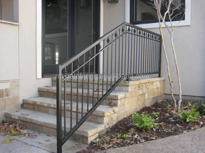 Marvelous Outdoor Wrought Iron Stair Railing, Outdoor Wrought Iron Stair Railing  Suppliers And Manufacturers At Alibaba.com Amazing Design