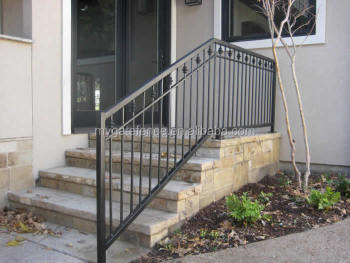 outdoor metal stair railing. Wrought Iron Decorative Hot Selling Outdoor Metal Stair Railing Design A